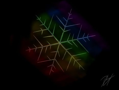 Rainbow snowflake by Rimfrost2