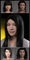 Sneak Preview: People of Earth: Faces of Asia G3F by SickleYield