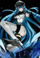 Esdeath - Akame ga kill! Skyscape Sans Text by ShardRaldevius