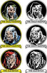 EC Host Trio Vault-Keeper Crypt-Keeper Old Witch by sjvernon