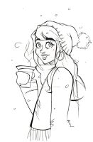 Winter Warmer - Lineart by RuthALawrence