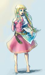 Skyward Sword: Zelda Sketch by moxie2D
