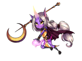 Soraka, the Starchild -League of Legends- :Chibi: by nixiescream