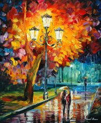 Walking Home by Leonid Afremov by Leonidafremov