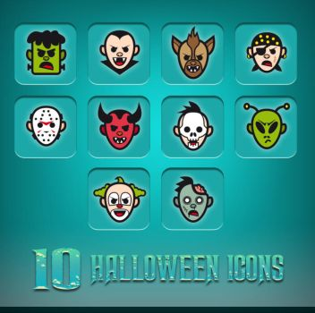 Halloween Icons Color by doghead