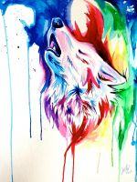 Rainbow Wolf Commission 5 by Lucky978