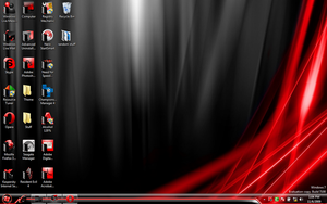 Win 7 Black and Red by DumDummer
