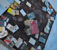 carpet with books by LittleCuteWitch