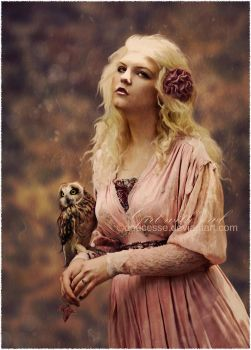 Girl with Owl by Doucesse