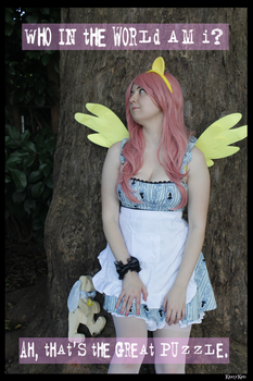 (MLP) Fluttershy Alice Cosplay #1 by KrazyKari