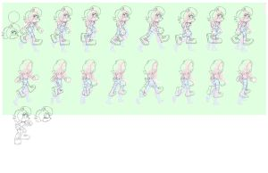 Sally Sprites Lines -redone - walking and still by AdamBryceThomas