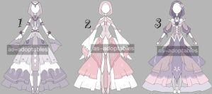 Princess outfit adoptable bacth CLOSED by AS-Adoptables
