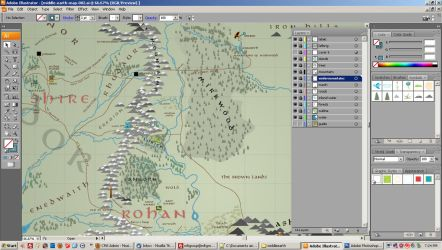 Middle Earth Map - WIP 002 by forbesrobertson