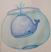 Whale in a bowl by Giulia-Imbriani