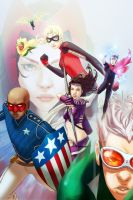Young Avengers Pinup by WScottForbes
