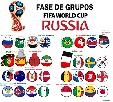 Polandball Russia 2018 groups by CaptainMME45