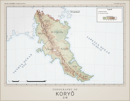Koryeo Topography - Atlas of Anterra by graphicamilitare