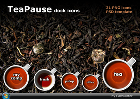 TeaPause dock icons by Carburator