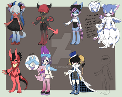 7 Adoptables for sale [2/7 Open] by VainisArt