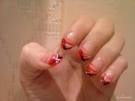 Red nail art by Hrasulee