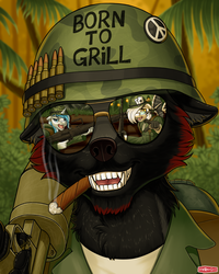 Commission - Born to Grill by WWRedGrave