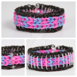 Sailor Pinstripe Rainbow Loom Neon BP by MissTopaz