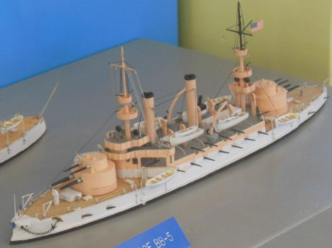 USS Kearsarge BB-5 Model by rlkitterman