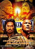 WWE Wrestlemania 33 Poster by SidCena555
