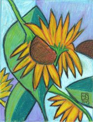Cubist Sunflower by The-Tinidril