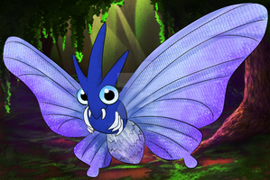 A Wild Venomoth Appeared