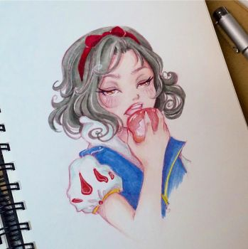 Snow white by lolaart