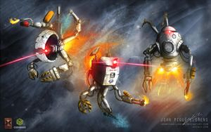 Maintenance Drones by JoanPiqueLlorens