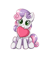 Sweetie Belle Heart Sticker by Autumn--Rush