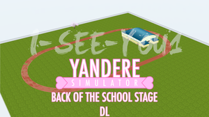 Yandere Sim. MMD Stage - Back Of The School [DL] by i-see-you1