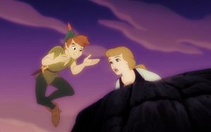Peter Pan and Cinderella by ADarkenedLandscape