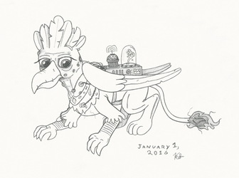 Ancient griffon by Coelacanth0794
