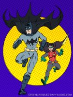Batman and son by TheInsaneDingo