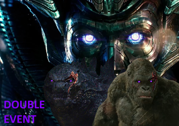 Godzilla and Kong Double Event by MnstrFrc