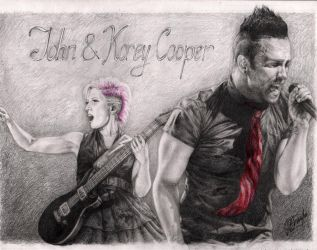 John and Korey Cooper by Alvardy