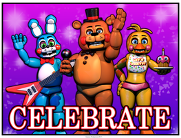 FNAF 2 - Celebrate Poster by GamesProduction