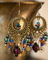 Steamy.Earrings of the Gypsy Variety by CrystalKittyCat