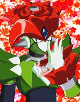 Axle the Red - Sleepy Rose by Kamira-Exe