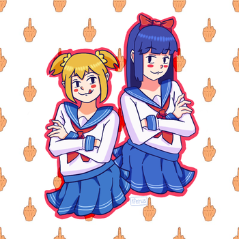 Pop Team Epic\Poputepipikku Pipimi and Popuko by 1FERUS