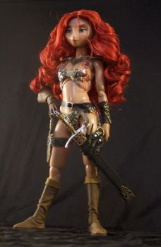 Red Custom Doll by cbgorby