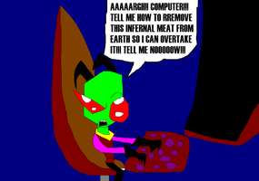 Zim at his computer by gizmo2300