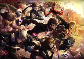 Persona 5 fan art by DevianTakeFreeCanvas