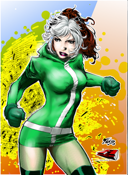 Rogue (pencils by Fred Benes) by AMProSoft