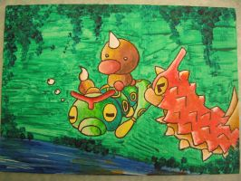 Caterpie, Wurmple and Weedle Acrylic