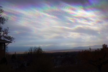 Clouds after a storm, in Rainbow-vision by StevenRoy