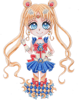 Chibi Sailor Moon Puella by Cherryblossomfang